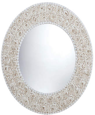 Dimond Home Floral Pattern Clam Shell Framed Mirror
