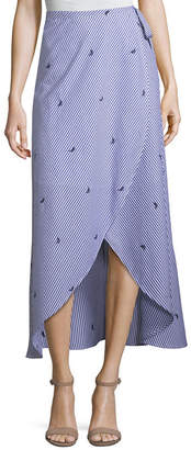 TDC T.D.C Stripe Wrap Maxi Skirts