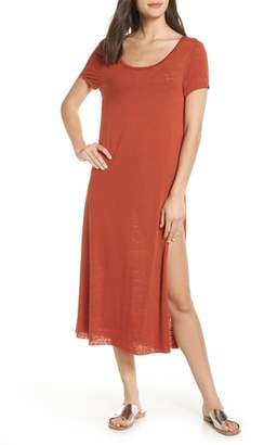 Leith Easy Tee Burnout Cover-Up Dress
