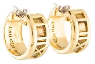 Tiffany & Co. 18K Atlas Huggie Earrings