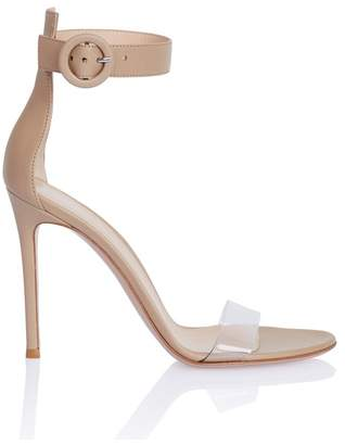 Gianvito Rossi Plexi Strap Sandal