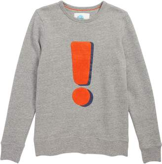 Boden Mini Exclamation Graphic Sweater