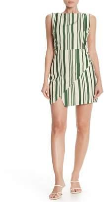 J.o.a. Striped Criss-Cross Side Sheath Dress