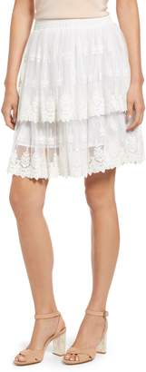 Kas Francine Tiered Lace Skirt