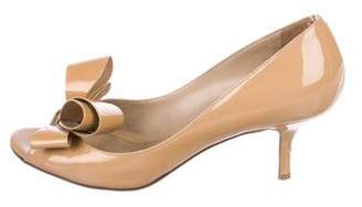 Valentino Couture Bow Peep-Toe Pumps