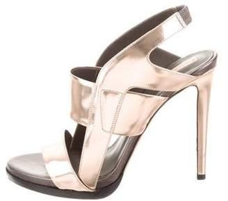 Reed Krakoff Metallic Leather Platform Sandals