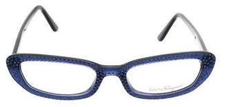 Salvatore Ferragamo Strass Narrow Eyeglasses