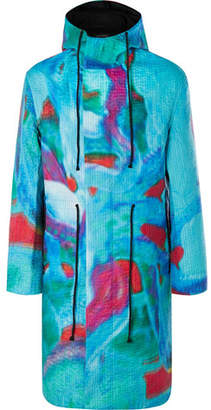 Craig Green Quilted Printed Shell Parka - Men - Blue