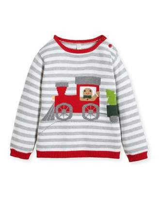 Zubels Boys' Gingerman Train Striped Knit Sweater, Sizes 2T-10