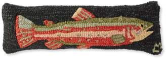 L.L. Bean L.L.Bean Wool Hooked Throw Pillow, Steelhead Trout