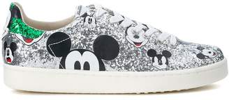 Argento Sneaker Moa Micky Mouse In Glitter