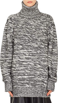 Akris Punto Turtleneck Chunky Tweed Pullover Knit Cashmere-Blend Sweater