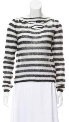 Saint Laurent Mohair Distressed Sweater