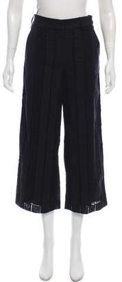 Veronica Beard High-Rise Cropped Leta Gaucho Pants