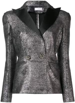Faith Connexion double-breasted metallic blazer
