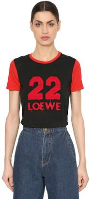 Loewe 22 Patch Cotton Jersey T-Shirt