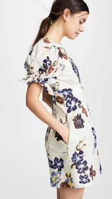 Sea Puff Sleeve Mini Dress