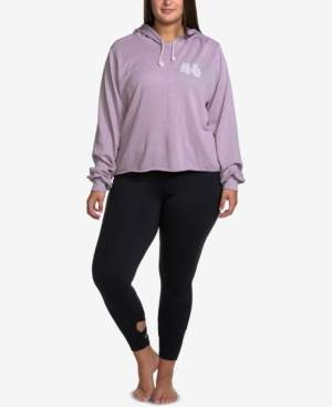 Soffe Curves Plus Size Raw-Hem Hoodie Sweatshirt
