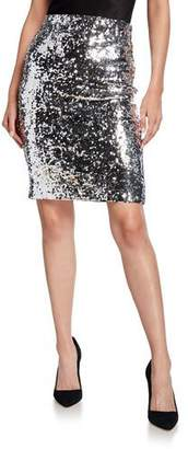 Alice + Olivia Ramos Sequin Fitted Skirt