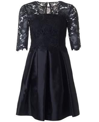 Ted Baker Long Sleeved Lace Top Full Skirt Dress