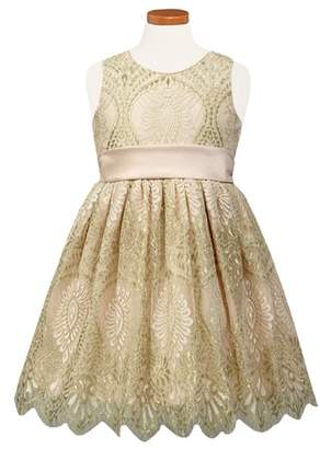 Sorbet Embroidered Lace Fit & Flare Dress