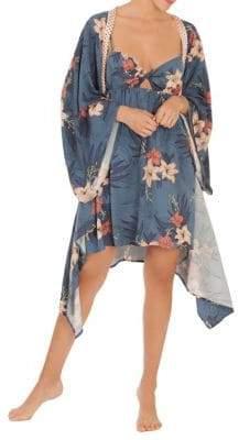Paige Midnight Bakery Betty Tropical Print Kimono
