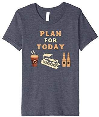 Plan For Today Pontoon Life Boat Lake Pontooning T-Shirt
