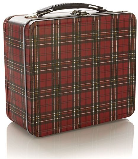 Crate & Barrel Plaid Lunch Box.
