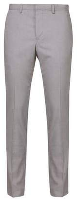Mens Light Grey Slim Fit Stretch Trousers