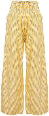 Matin striped wide leg trousers
