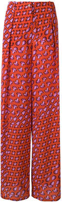 Tomas Maier printed wide-leg trousers