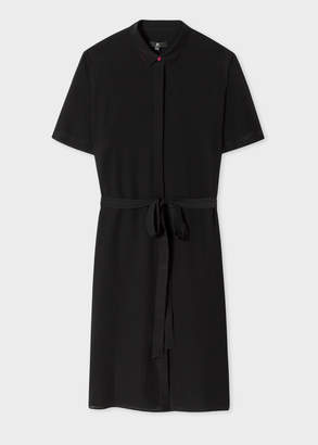 Paul Smith Women's Black Silk Shirt Dress with contrasting Trims