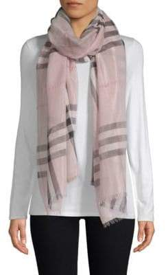 Burberry Giant Plaid Wool-Silk Scarf