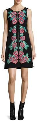 Nanette Lepore NANETTE Women's Sonata Floral Embroidered Shift Dress