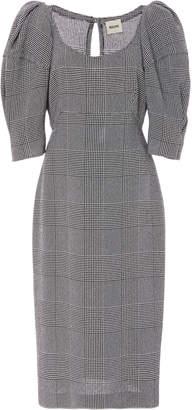 Khaite Beatrice Checked Midi Dress