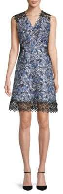 Elie Tahari Embroidered Panelled Sleeveless Dress