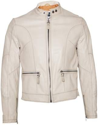 Armani Jeans Beige Leather Jackets