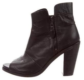 Rag & Bone Patent Leather Peep-Toe Ankle Boots