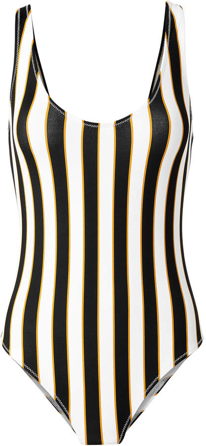 Mer Aristi Scoop Back Striped One Piece Swimsuit