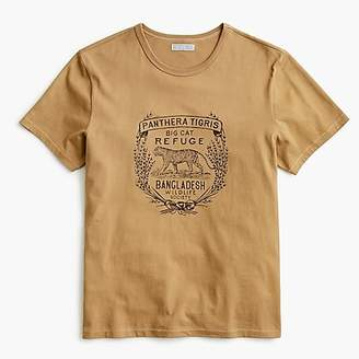 J.Crew Wallace & Barnes tiger graphic tubular T-shirt