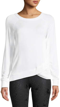 The Balance Collection Karma Faux-Wrapped Tee