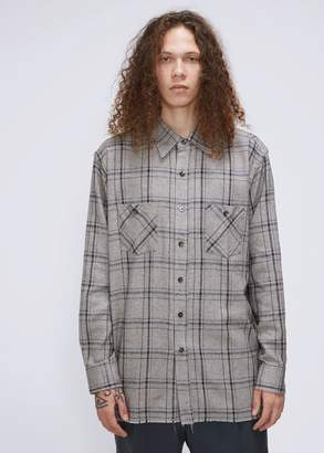 Needles Cut-Off Bottom Regular Collar Shirt