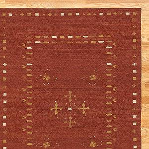 Kilim Wool Rug, Rust