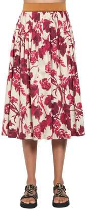 Antonio Marras Printed Cotton Blend Midi Skirt