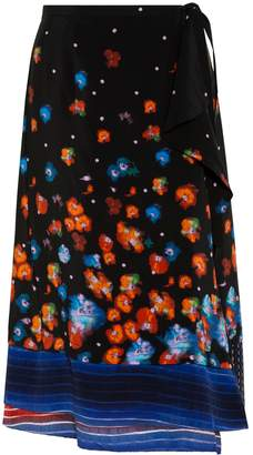 Suno Tiered Wrap Skirt