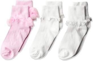 Jefferies Socks Big Girls' Ruffle/Ripple Edge/Lace 3 Pack