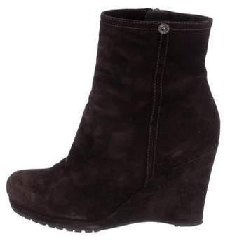 Prada Sport Round-Toe Wedge Boots