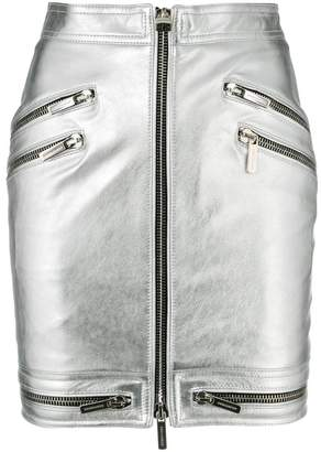 DSQUARED2 zip through mini skirt