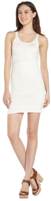Chloé ivory stretch cotton 'Chloe' sleeveless dress