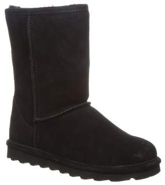 BearPaw Elle Short Wide Suede Genuine Sheepskin Footbed Boot